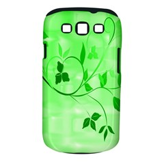 Floral Green Samsung Galaxy S III Classic Hardshell Case (PC+Silicone)