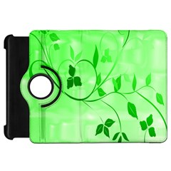 Floral Green Kindle Fire Hd 7  Flip 360 Case