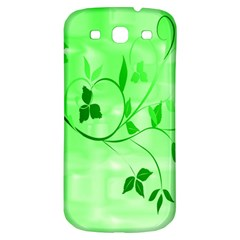 Floral Green Samsung Galaxy S3 S III Classic Hardshell Back Case