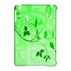 Floral Green Apple iPad Mini Hardshell Case (Compatible with Smart Cover)