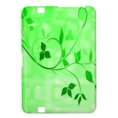Floral Green Kindle Fire Hd 8 9  Hardshell Case