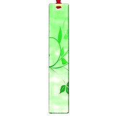 Floral Green Large Bookmark