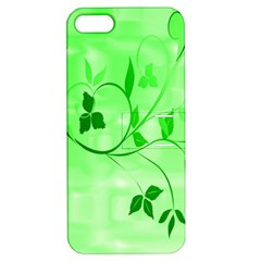 Floral Green Apple Iphone 5 Hardshell Case With Stand