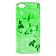 Floral Green iPhone 5 Premium Hardshell Case