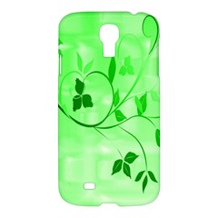 Floral Green Samsung Galaxy S4 I9500/I9505 Hardshell Case
