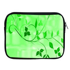 Floral Green Apple Ipad Zippered Sleeve