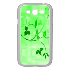 Floral Green Samsung Galaxy Grand DUOS I9082 Case (White)