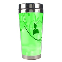 Floral Green Stainless Steel Travel Tumbler