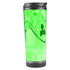 Floral Green Travel Tumbler