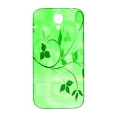 Floral Green Samsung Galaxy S4 I9500/i9505  Hardshell Back Case