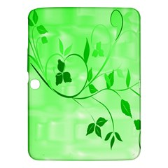 Floral Green Samsung Galaxy Tab 3 (10.1 ) P5200 Hardshell Case