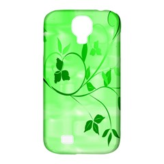 Floral Green Samsung Galaxy S4 Classic Hardshell Case (pc+silicone)