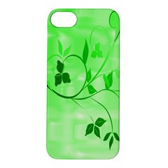 Floral Green Apple iPhone 5S Hardshell Case