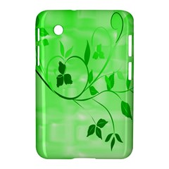 Floral Green Samsung Galaxy Tab 2 (7 ) P3100 Hardshell Case