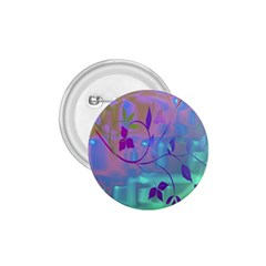 Floral Multicolor 1.75  Button