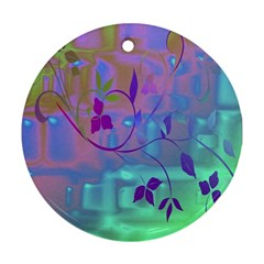 Floral Multicolor Round Ornament