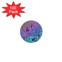 Floral Multicolor 1  Mini Button (100 pack)