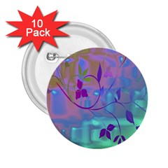 Floral Multicolor 2.25  Button (10 pack)