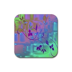 Floral Multicolor Drink Coasters 4 Pack (Square)