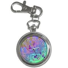 Floral Multicolor Key Chain & Watch