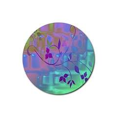 Floral Multicolor Drink Coasters 4 Pack (Round)