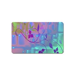 Floral Multicolor Magnet (Name Card)