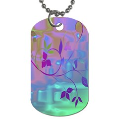 Floral Multicolor Dog Tag (Two-sided)