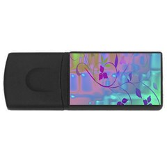 Floral Multicolor 1GB USB Flash Drive (Rectangle)