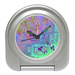 Floral Multicolor Desk Alarm Clock