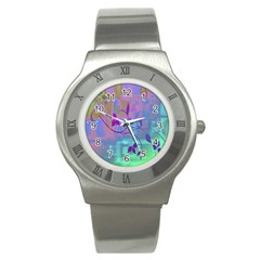 Floral Multicolor Stainless Steel Watch (slim)