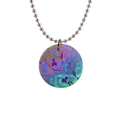 Floral Multicolor Button Necklace