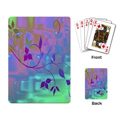 Floral Multicolor Playing Cards Single Design