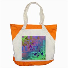 Floral Multicolor Accent Tote Bag