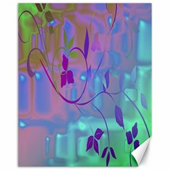 Floral Multicolor Canvas 16  X 20  (unframed)