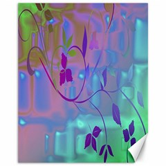 Floral Multicolor Canvas 11  X 14  (unframed)