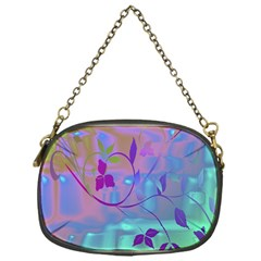 Floral Multicolor Chain Purse (One Side)