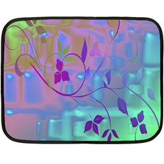 Floral Multicolor Mini Fleece Blanket (Two Sided)