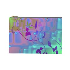 Floral Multicolor Cosmetic Bag (Large)