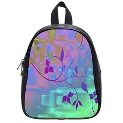 Floral Multicolor School Bag (Small)
