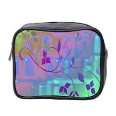 Floral Multicolor Mini Travel Toiletry Bag (Two Sides)