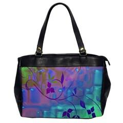Floral Multicolor Oversize Office Handbag (One Side)