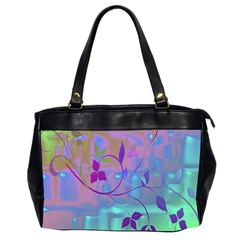Floral Multicolor Oversize Office Handbag (Two Sides)