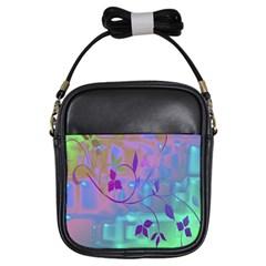 Floral Multicolor Girl s Sling Bag