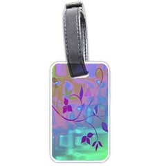 Floral Multicolor Luggage Tag (one Side)