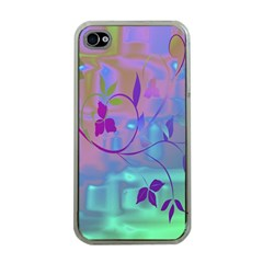 Floral Multicolor Apple iPhone 4 Case (Clear)