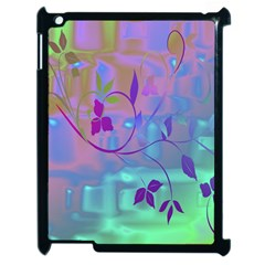 Floral Multicolor Apple iPad 2 Case (Black)