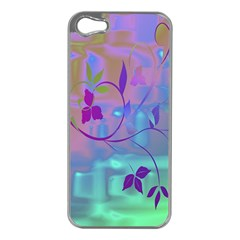 Floral Multicolor Apple iPhone 5 Case (Silver)