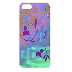 Floral Multicolor Apple iPhone 5 Seamless Case (White)