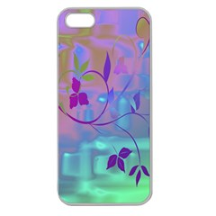 Floral Multicolor Apple Seamless iPhone 5 Case (Clear)