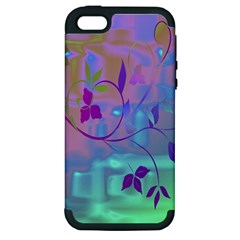 Floral Multicolor Apple iPhone 5 Hardshell Case (PC+Silicone)